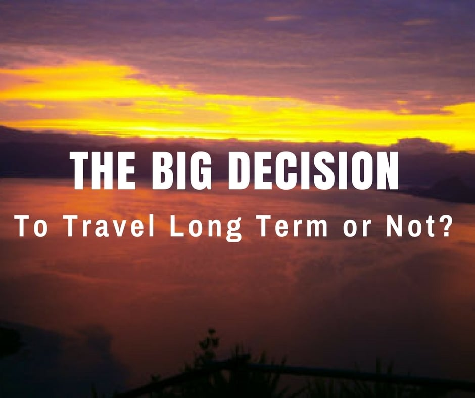The Big Decision - To Travel Long Term or Not? Sunrise on Lake Atitlan, Guatemala