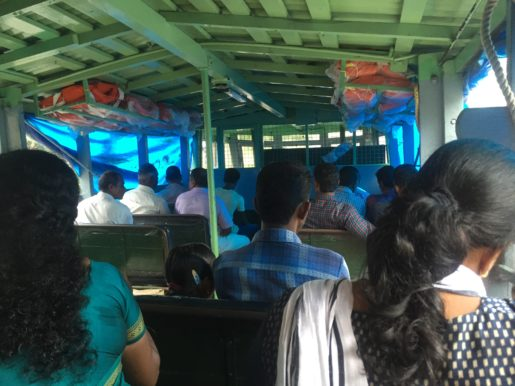 Allepey local ferry on Kerala backwaters