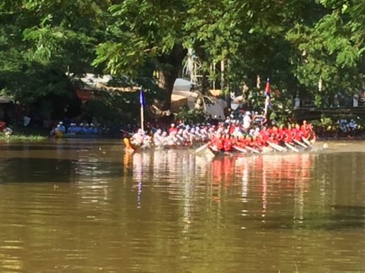 Dragon boat race water festival Siem Reap