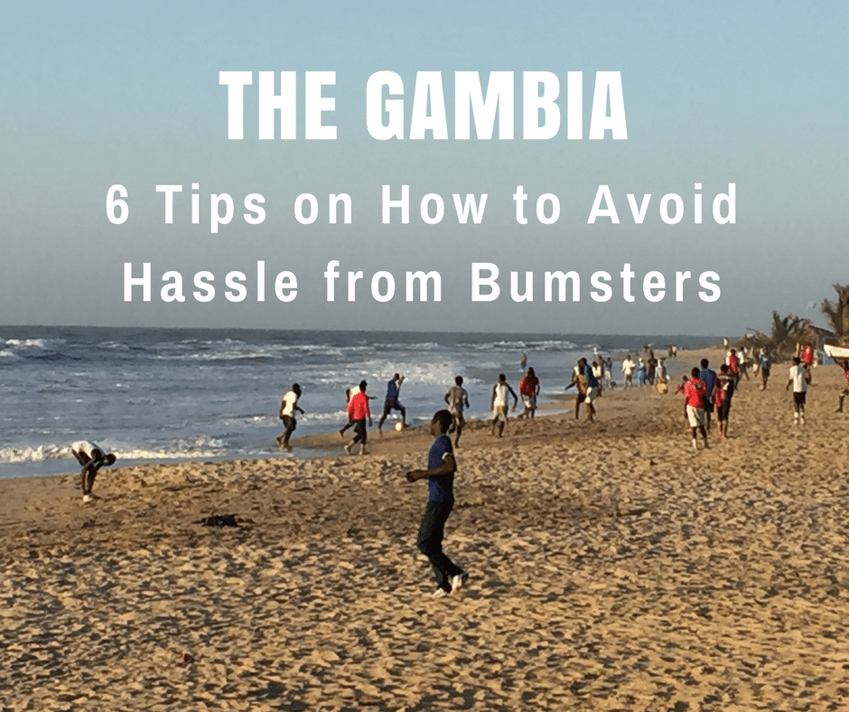 Bumsters on the Beach in The Gambia