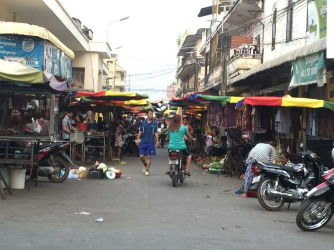 Central Market in Kratie, Cambodia