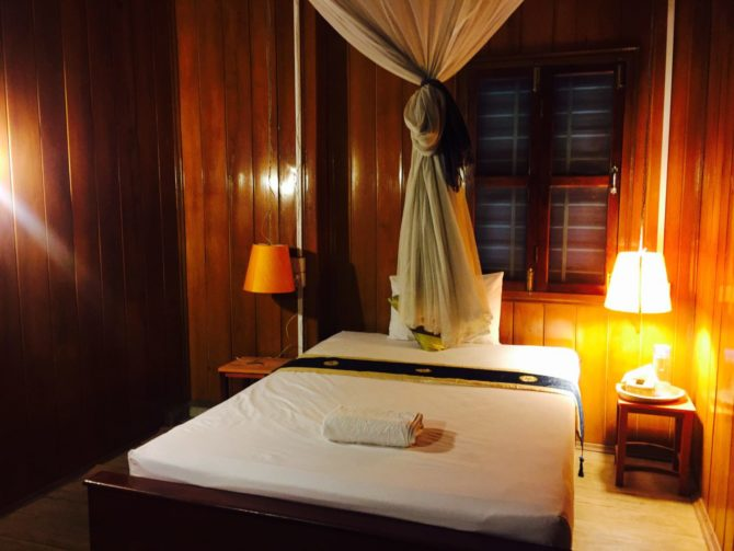 Standard double room at Le Tonle Guesthouse, in Kratie, Cambodia