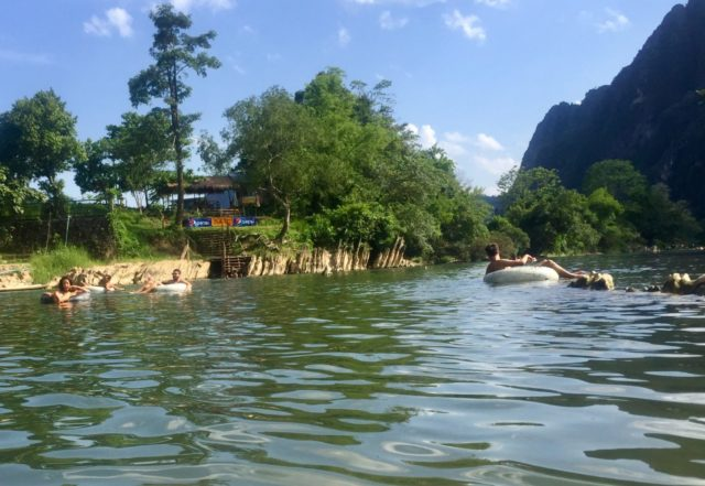 Vang Vieng Tubing on the Nam Song River, Laos