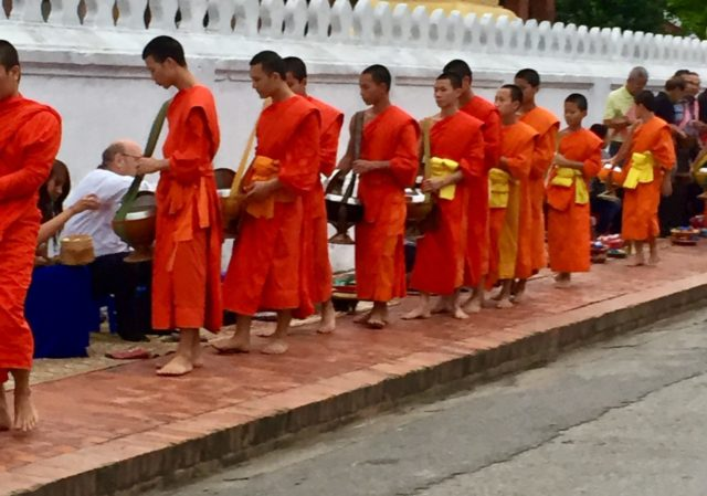 Tak Bat Alms Giving in Luang Prabang, Laos