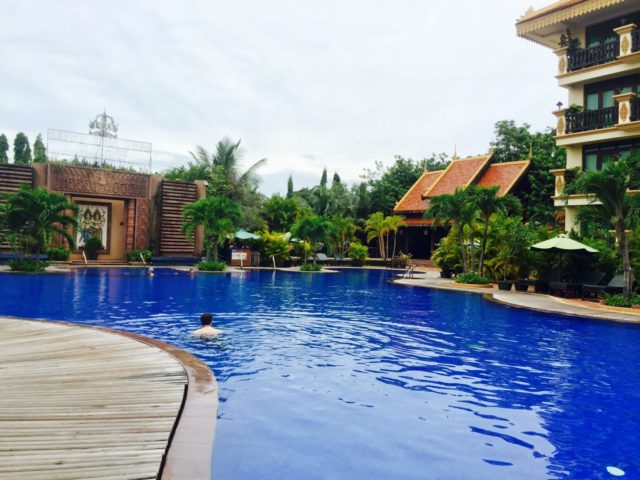 Angkor Era Hotel Swimming Pool in Siem Reap, Cambodia