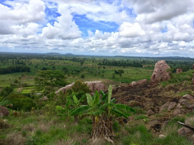 Countryside view from Peung Tanon Standing Stones near Siem Reap, Cambodia