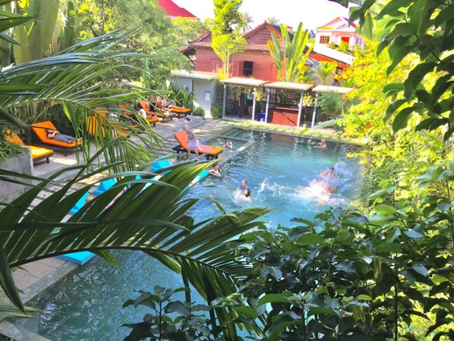 eOcambo Swimming Pool in Siem Reap, Cambodia