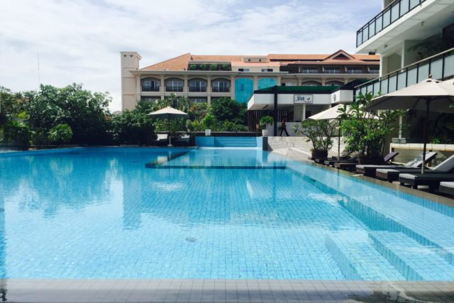 Hotel Somadevei Angkor Boutique and Resort Swimming Pool in Siem Reap, Cambodia