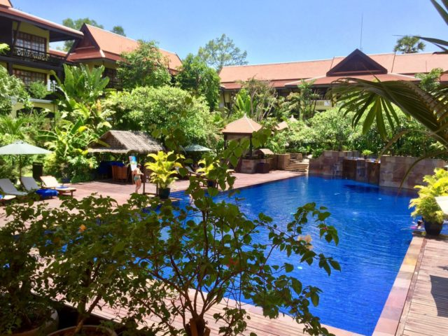 Victoria Angkor Resort & Spa Swimming Pool in Siem Reap, Cambodia