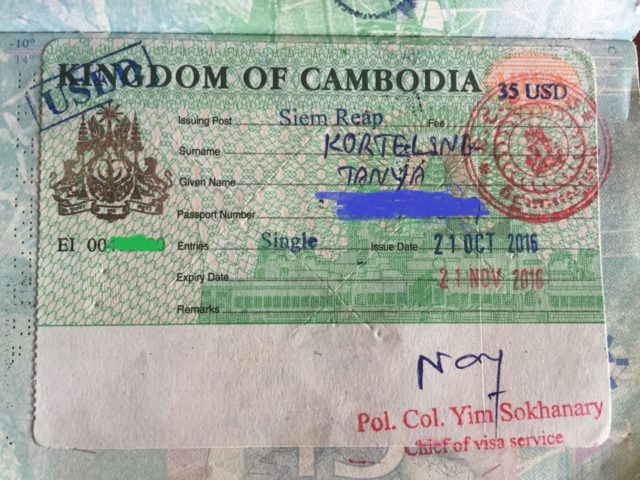 How To Get A Cambodia Visa On Arrival Cambodia Can Travel Will Travel