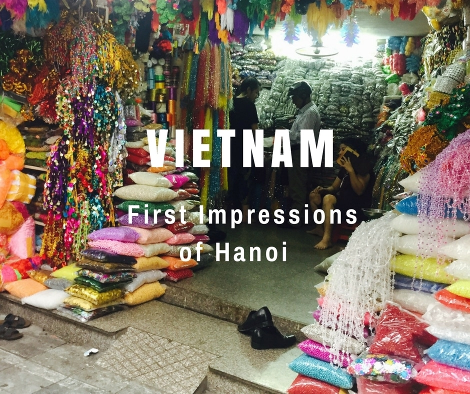 First Impressions of Hanoi in Vietnam - Colourful Shop in the Old Quarter