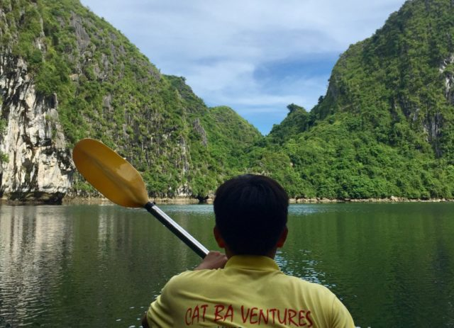 Kayaking through Caves and Lagoons in Ha Long Bay, Vietnam