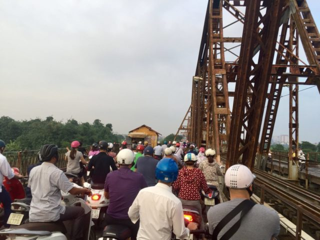 Long Bien Bridge in Hanoi, Vietnam