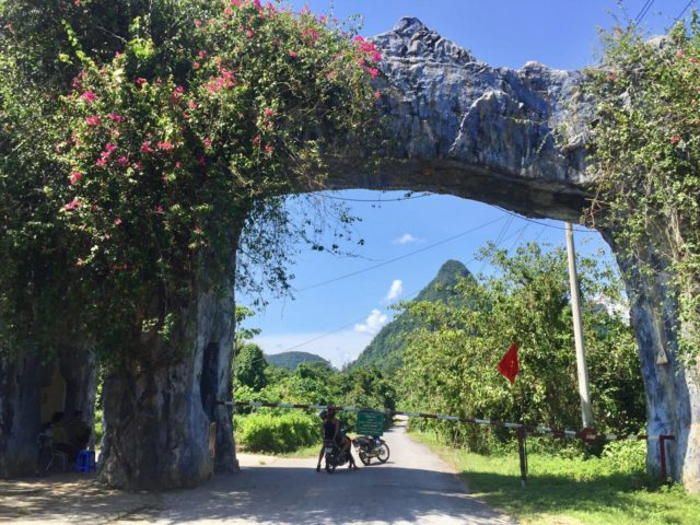 Motorcycle ride to Phong Nha Botanical Garden in Vietnam