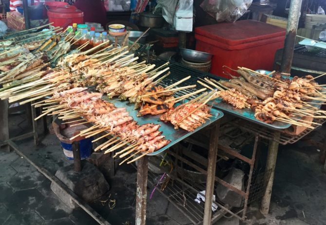 Kep Crab Market in Kep, Cambodia