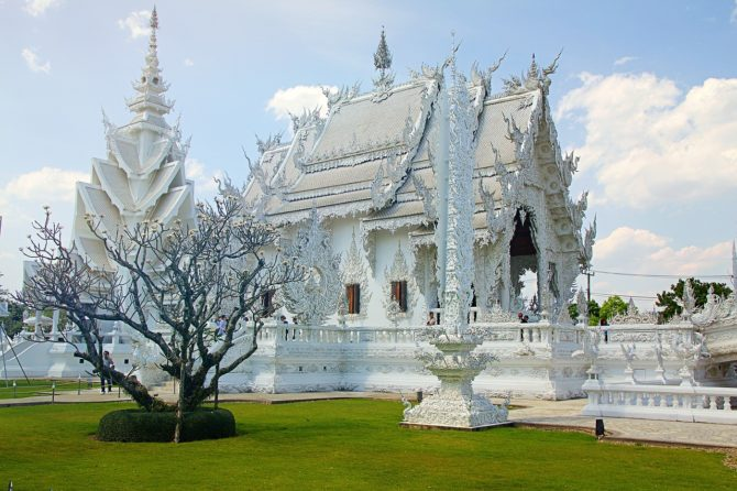 Chiang Rai White Temple in Thailand