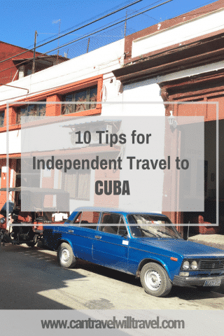 10 Tips for Independent Travel to Cuba. Old Car in Trinidad Street