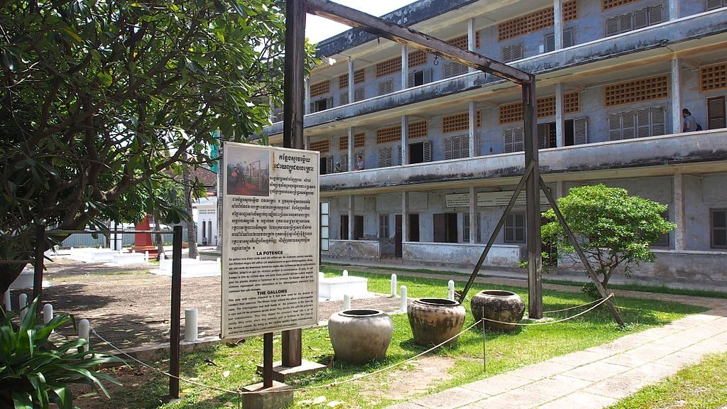 S21 Tuol Sleng Genocide Museum in Phnom Penh, Cambodia