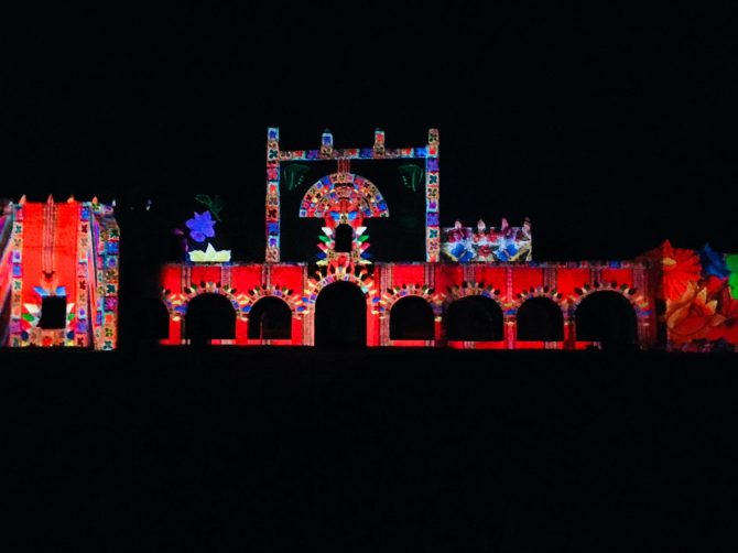 Convento de Bernadino Sound and Light Show in Valladolid, Mexico