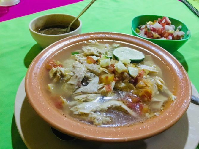 Sopa de Limon in Oasis Familiar in Valladolid, Mexico