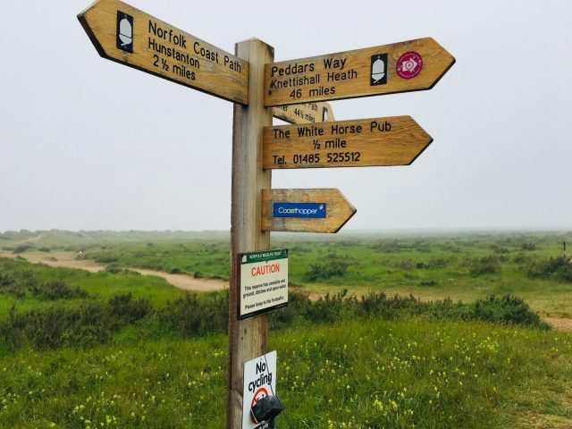 Norfolk Coast Path Sign, England