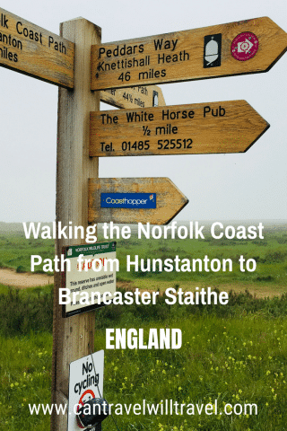 Walking the Norfolk Coast Path from Hunstanton to Brancaster Staithe Pin1