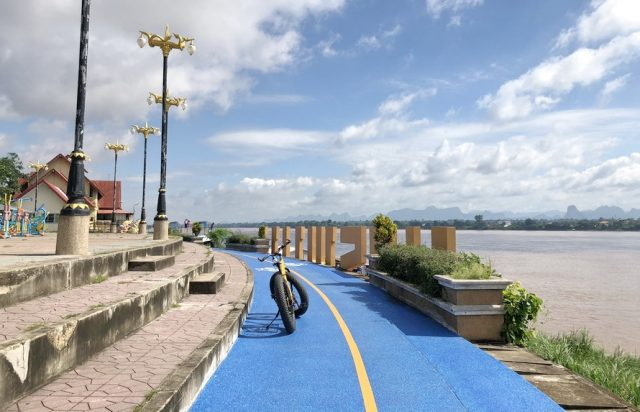 Cycle Path in Nakhon Phanom, Thailand