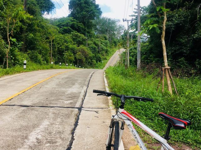 Cycling on Koh Kood Island in Thailand