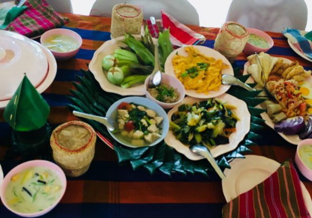 Traditional Isaan Thai Food in Tribal Village near Nakhon Phanom
