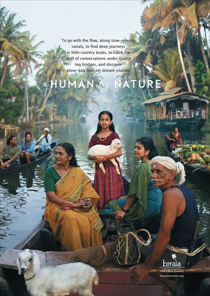 Human By Nature Campaign Poster Alleppey Backwaters