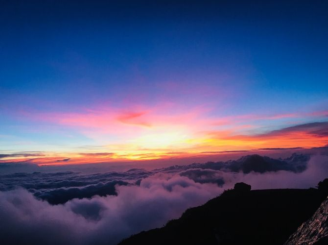 Acatenango Summit Sunrise in Guatemala