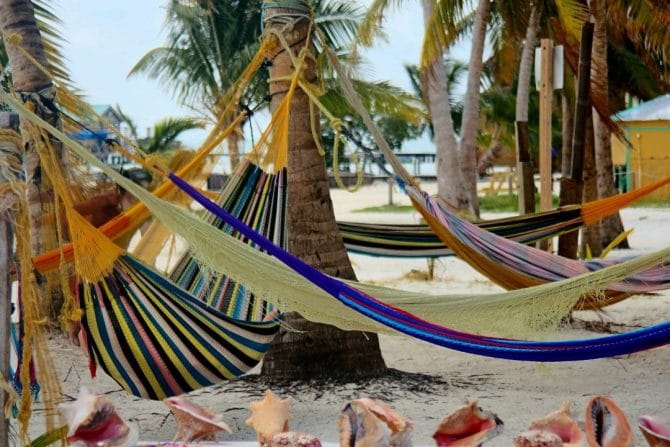 Hammocks on Caye Caulker