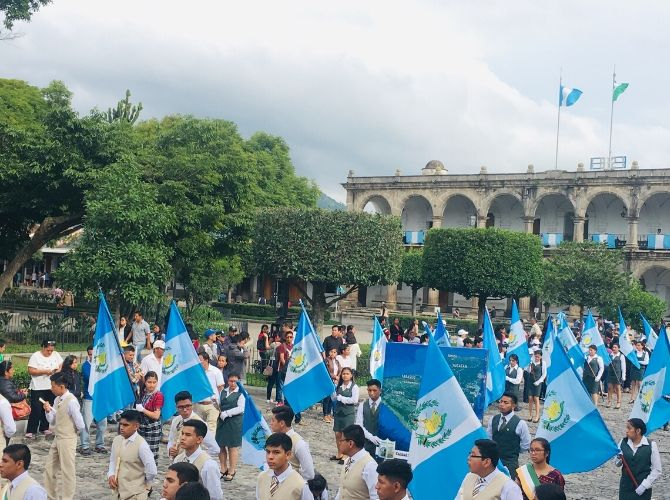 Independence Day in Central Park, Antigua, Guatemala