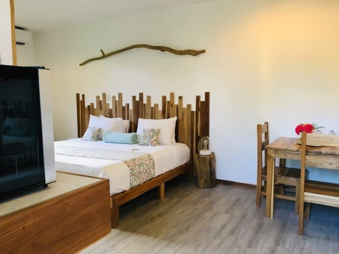 King room at Drift Away Eco Lodge in Costa Rica