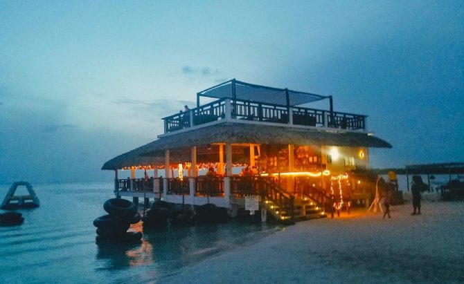 Koko King at night on Caye Caulker
