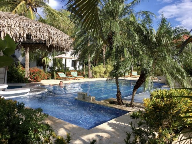 Pool at Drift Away Eco Lodge in Costa Rica