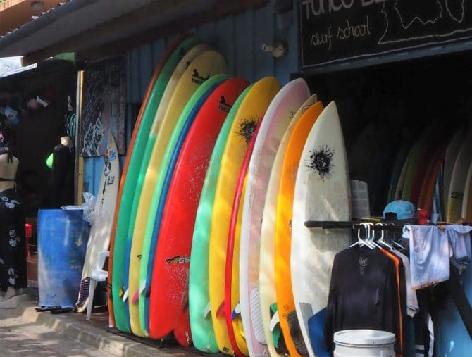Surf Boards at Playa El Tunco