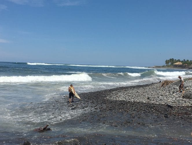 Surfers at Playa El Tunco