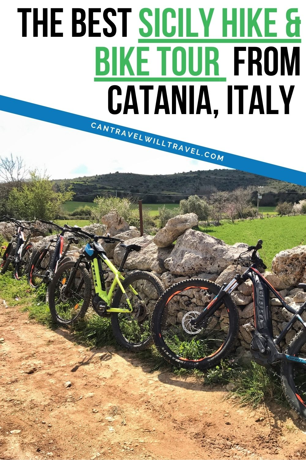 The Best Sicily Hike and Bike Tour From Catania, Italy Pin1