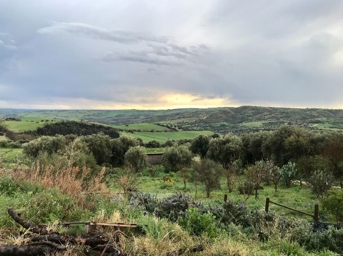 Countryside view from Agritourismo Giannavi in Sicily