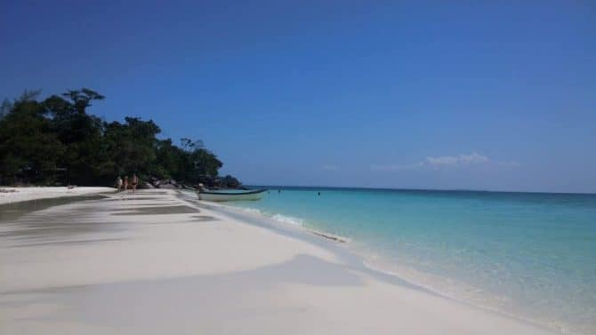 White Beach on Koh Rong Island